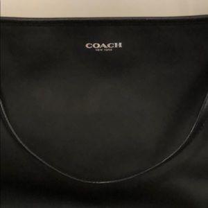 Black Coach Diaper Tote